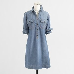 J. Crew Chambray Shirt Dress XS